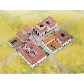 kit de construção do modelo cidade romana