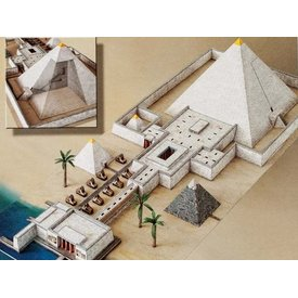 Model building kit pyramid temple