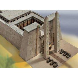 Model byggesæt egyptisk tempel 1550 - 1070 f.Kr..