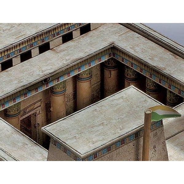 Egiziano tempio edificio bordo 1550 - 1070 aC.
