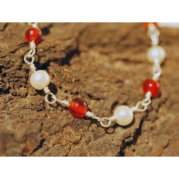 Roman naszyjnik z czerwonych kamieni