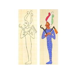 papyruskleurplaat Osiris