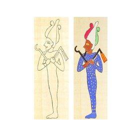 Papyrus farve plade Osiris