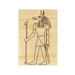 papyruskleurplaat Egyptische god Anubis