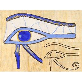 placa papiro coloração Hórus