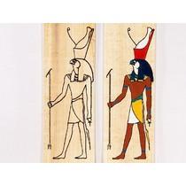 Papyrus färbenden Platte Horus stehend