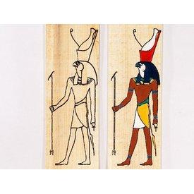 Papyrus farvelægning plade stående Horus