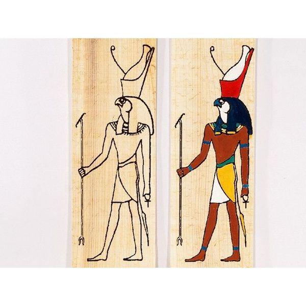 Papirus barwiących płyta stały Horus