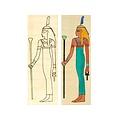 Colorare papiro Iside in piedi