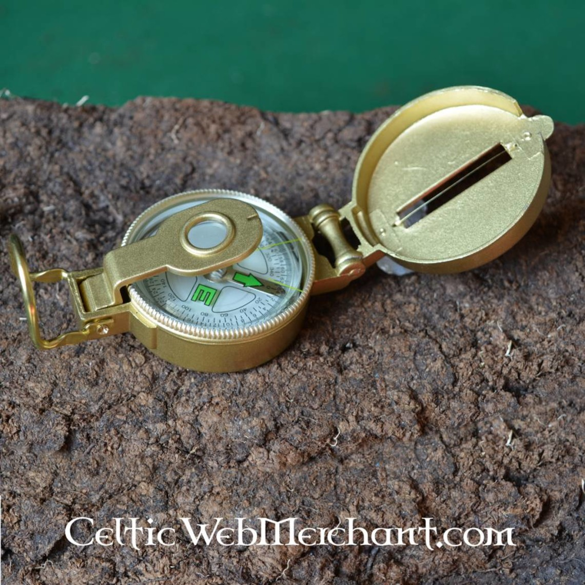 Army compass with metal exterior