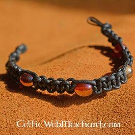 Epic Armoury Armband mit Perlen, Leder