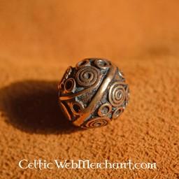 Celtic Bartes bead mit Spiralen