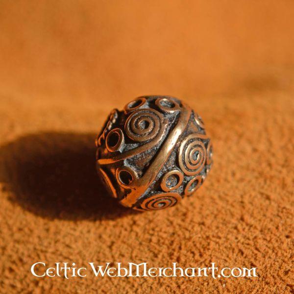 Keltisk skæg perle med spiraler