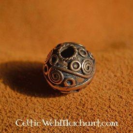 Keltisk beardbead med spiraler