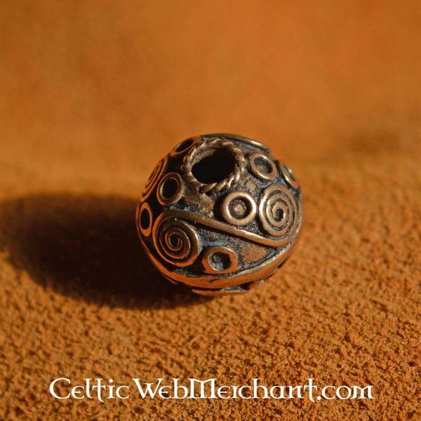 Beardbead celtique avec des spirales d'argent