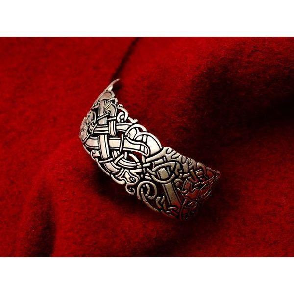 Celtic bracelet with Ancient Irish motifs
