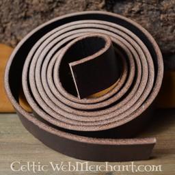 Leather belt 15 mm / 190 cm, brown
