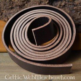 Cinturón de cuero 15 mm / 190 cm, marrón