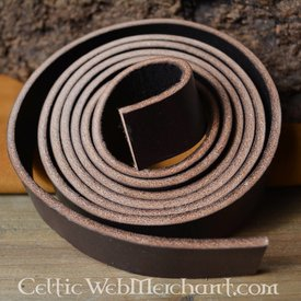 Læder bælte 15 mm / 190 cm, brun