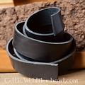 Cinturón de cuero 20 mm / 140 cm, marrón