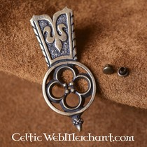 Gothic pewter belt buckle, 14th-15th century