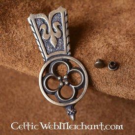 Extremo del cinturón cuadrifolio Medieval