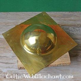 Deepeeka Umbo de bouclier carré, en laiton