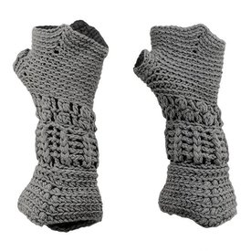 Knitted knight gloves for children