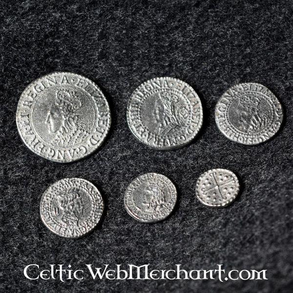 Elizabeth I seks møntsæt