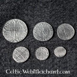 Elżbieta I zestaw sześciu monet