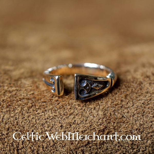 Viking Ring med diamant mønster, bronze