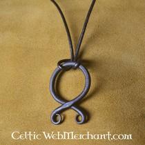 Buttons Celtic triquetra, set of 5 pieces, messing