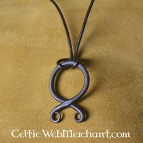 Cloak clasp with Midgard snake, silvered