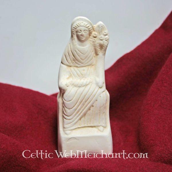 Roman votive statue sitting Fortuna