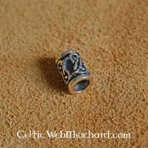 Traditional Celtic beard bead bronze