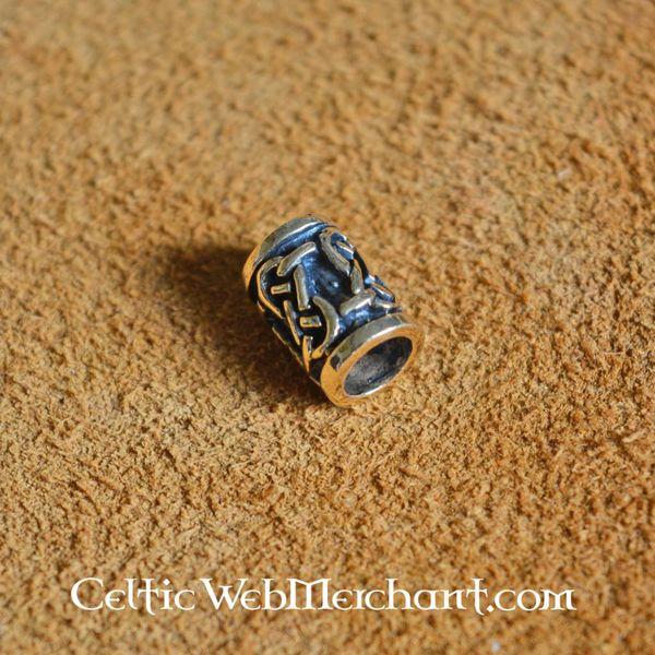 Traditionelle Keltisk skæg perle bronze