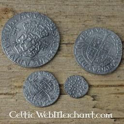 Henrik VIII. Fyra mynt set