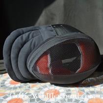 Red dragon Pommel for mand hilted trainingszwaard zwart