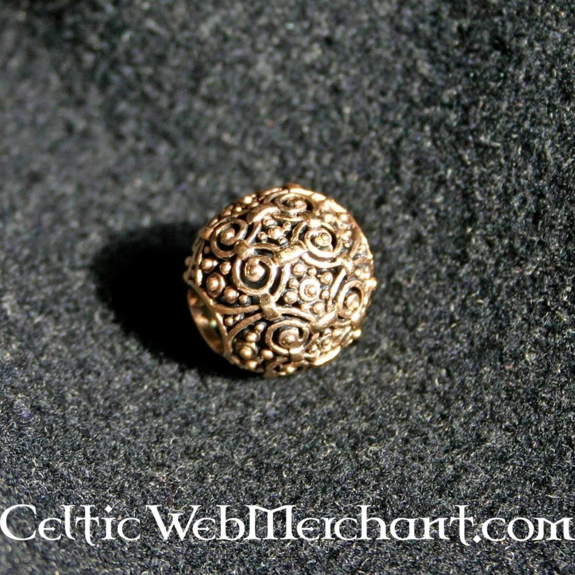 Cuenta de bronce decorativa