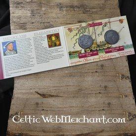 Coin pack Henry VIII & Elizabeth I Tudor