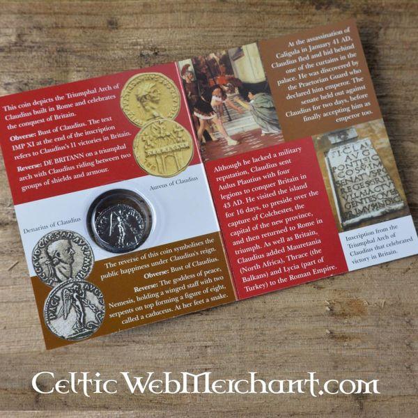 Roman denar pakować Klaudiusza