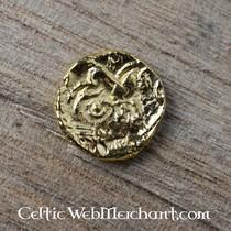 Celtic earrings trisquelion, bronze