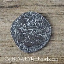 15th century belt fitting flower (set of 5 pieces), silvered