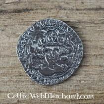 Medieval Quatrefoil broche, silvered