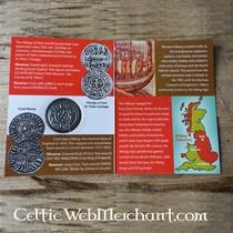 Alfred le Grand (871-891). ensemble cinq pièces de monnaie