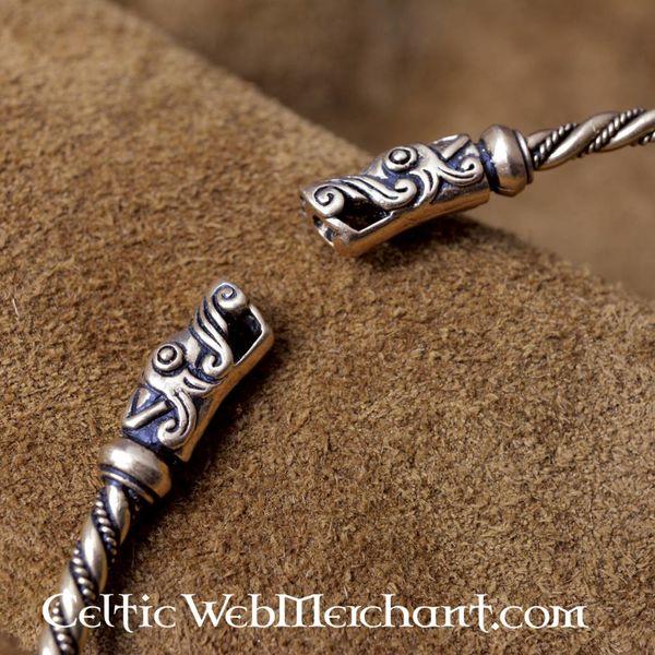 Vikingtorc met drakenkoppen
