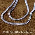 Srebra podwójnie skręcone naszyjnik 55 cm