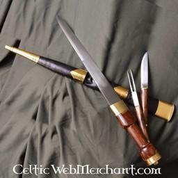 Sgian Achlais mit Messer und Gabel