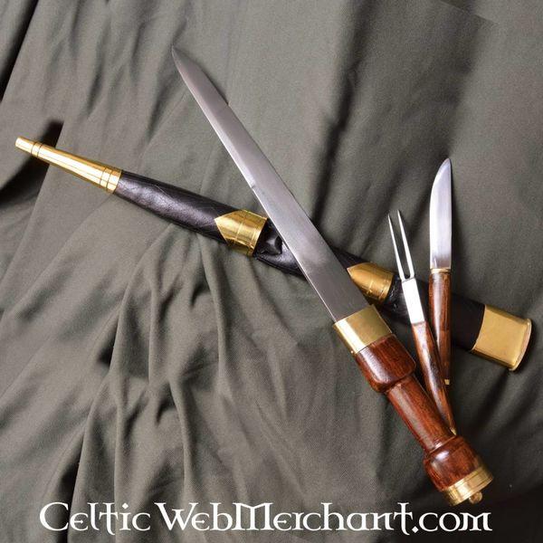 Deepeeka Sgian achlais med kniv och gaffel