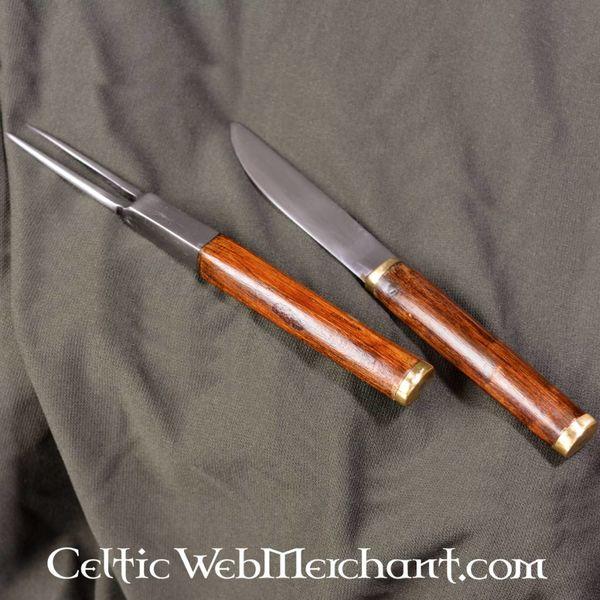 Deepeeka Achlais sgian écossais, avec couteau et fourchette